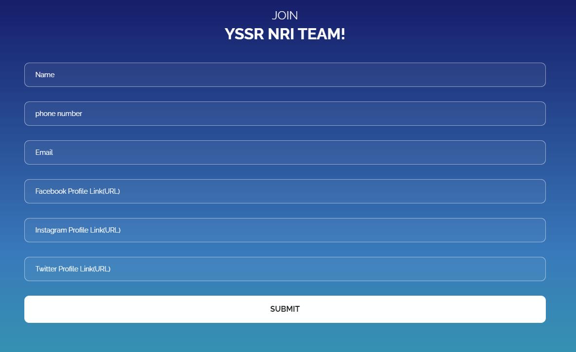 YSRTP NRI Registration