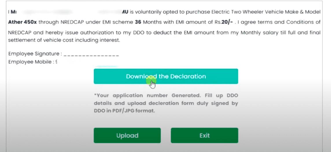 AP Electric 2 Wheeler Scheme Online Form