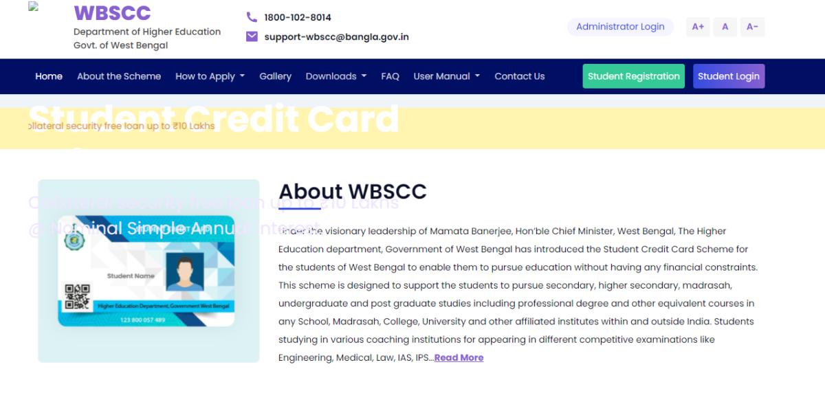 WBSCC Credit Card Portal
