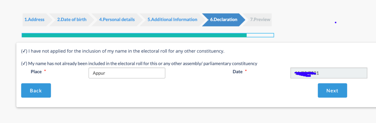 declaration before submitting