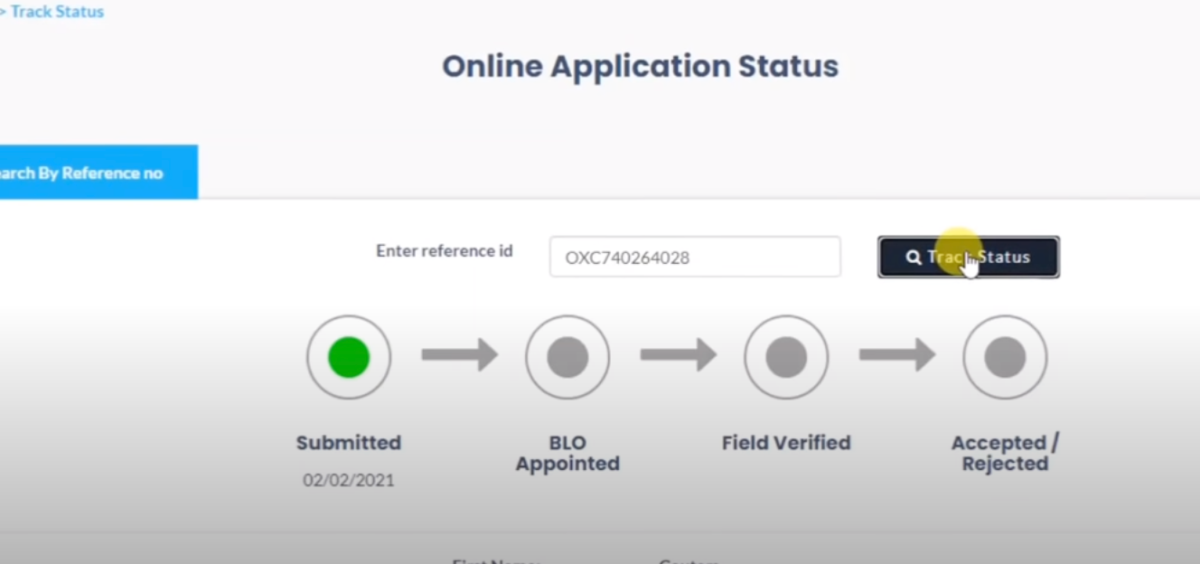 check voter id application status