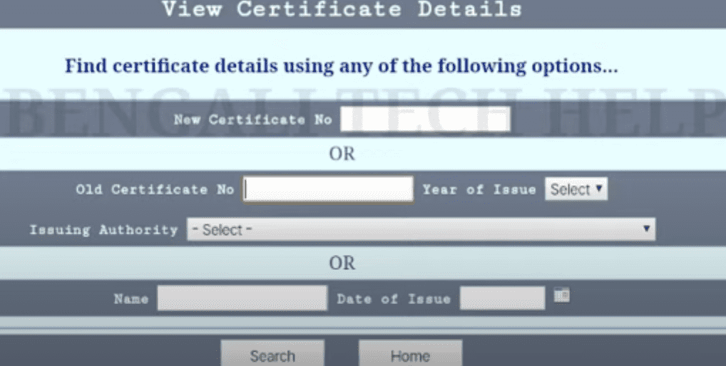 wb sc st obc certificate download