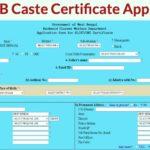 caste certificate wb apply