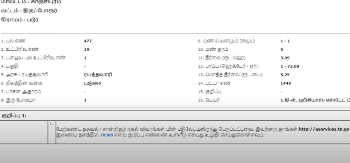 Tamilnadu Land Record | TN Online Patta Chitta Download Adangal, A-Register, FMB, Verify Online