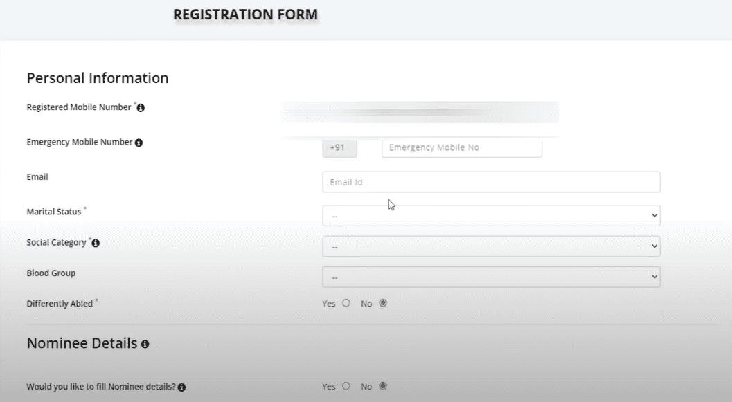 eshram.gov.in Registration 2021