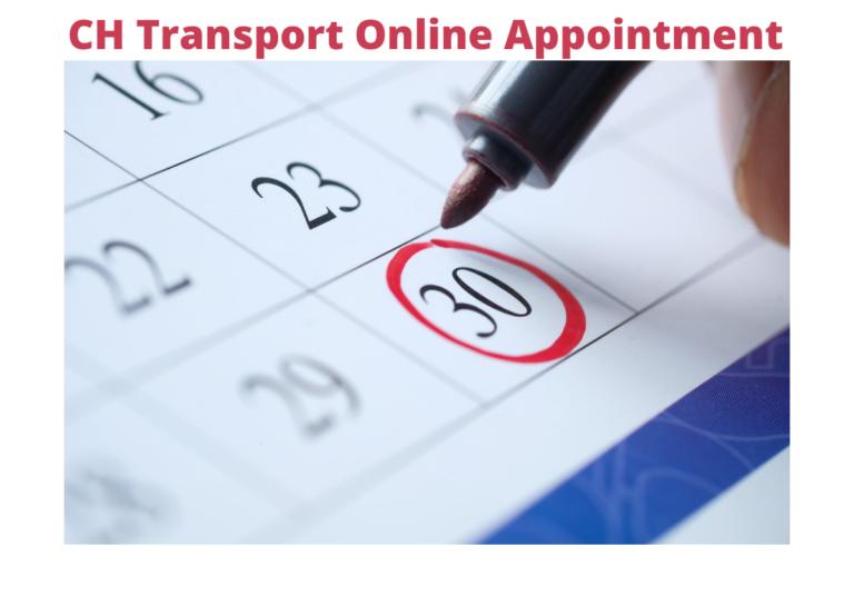 Chandigarh Transport Online Appointment