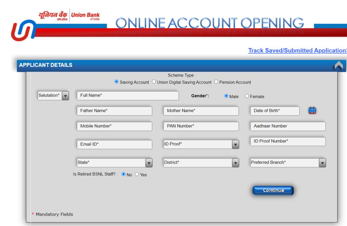 UBI Digital Savings/Zero Balance Account Online Opening