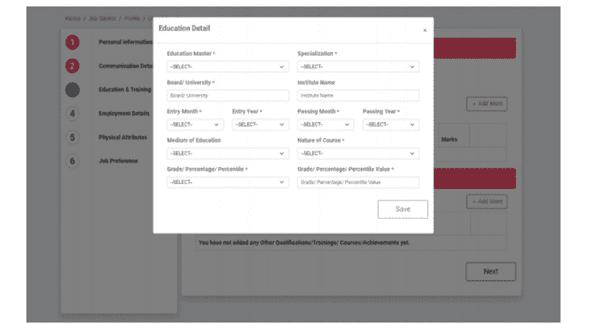 Edit Candidate Profile On Anubandhan Rojgar Portal