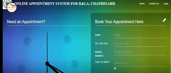How to Book Online RLA Chandigarh Transport Appointment