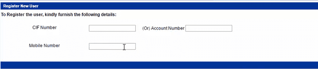 Indian Bank Net Banking New User Registration