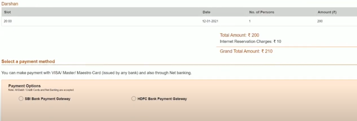 Shri Shirdi Sai Darshan Free/Paid Tickets Online