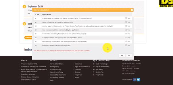 Apply UDID Online for UDID Card Online