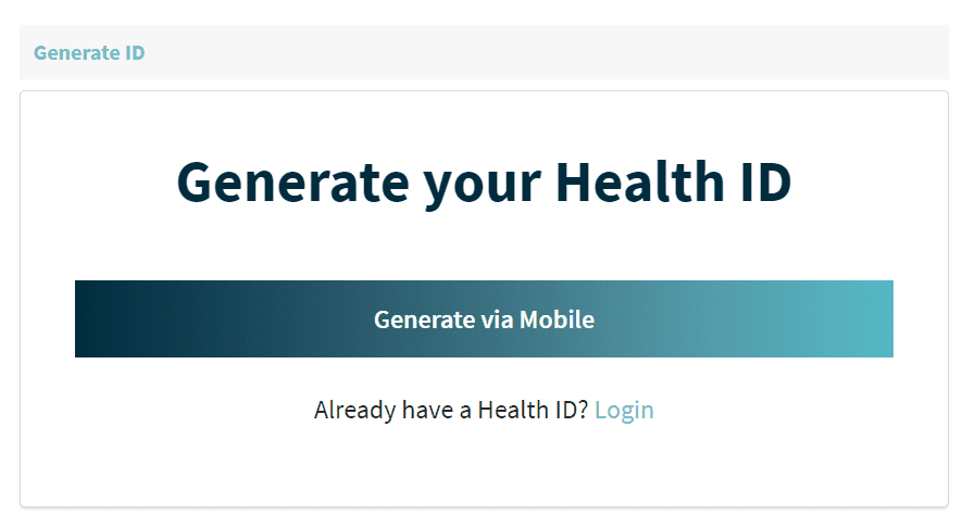 Health ID Online Form