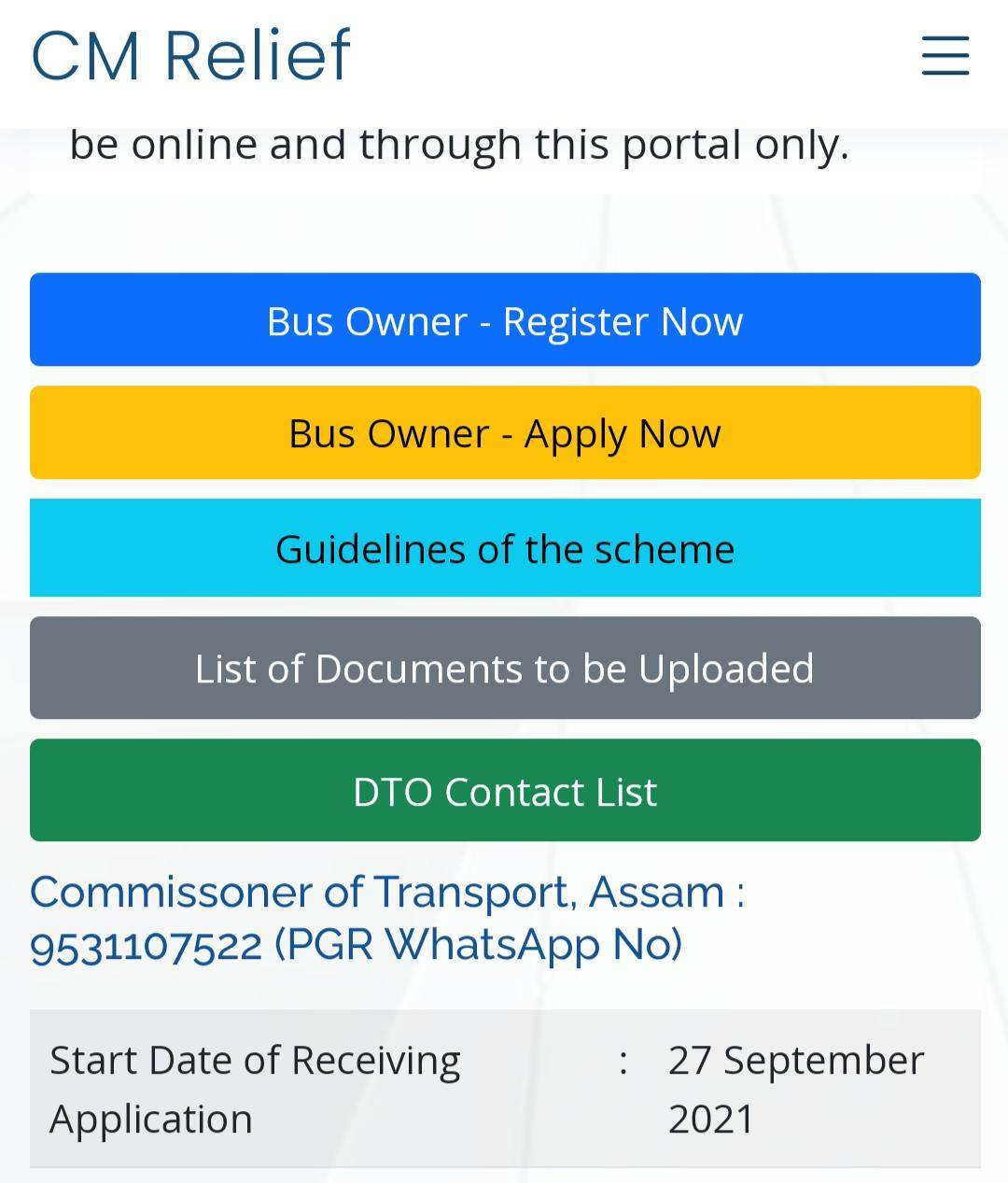 Assam CM Covid Relief Scheme for Drivers, Conductors & Handymen, Apply Online, Registration Form 2021