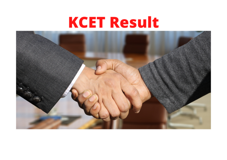 kcet exam result check