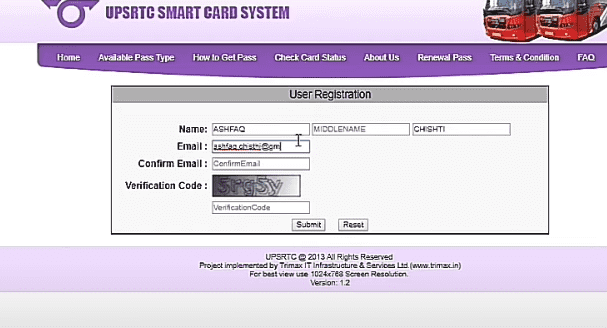 How to Apply Online for UPSRTC Smart Card