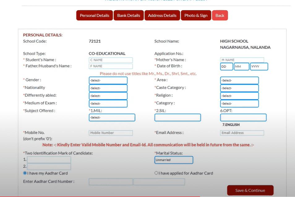 BSEB Class 9 Registration 2023, Apply Online @secondary.biharboardonline portal