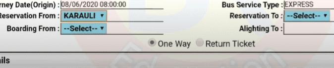 RSRTC Ticket Booking Online