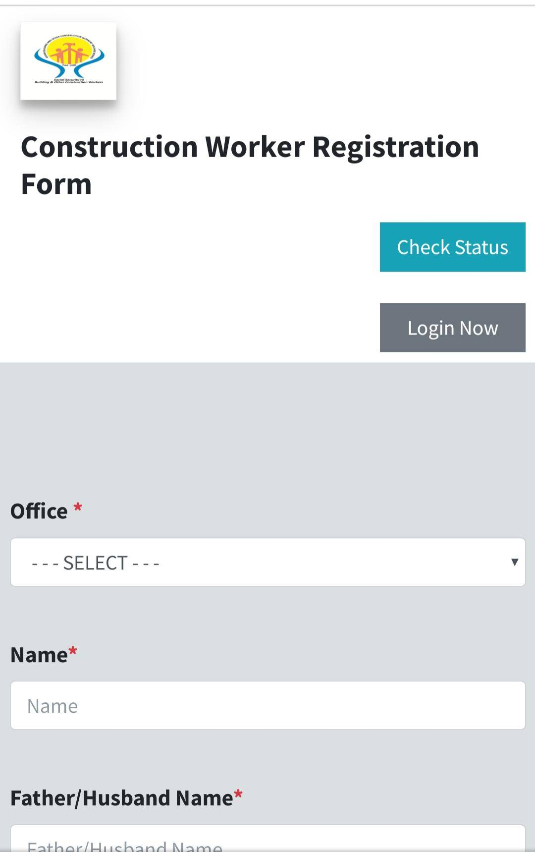 Apply Labour Assam Registration