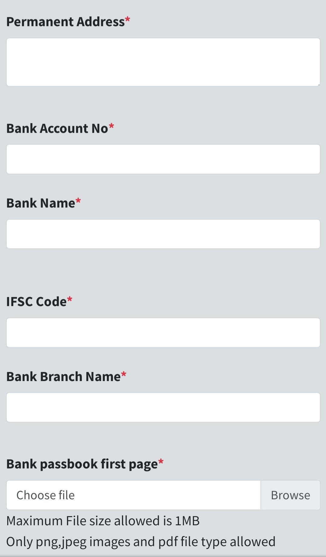 Labour Assam Registration  Form