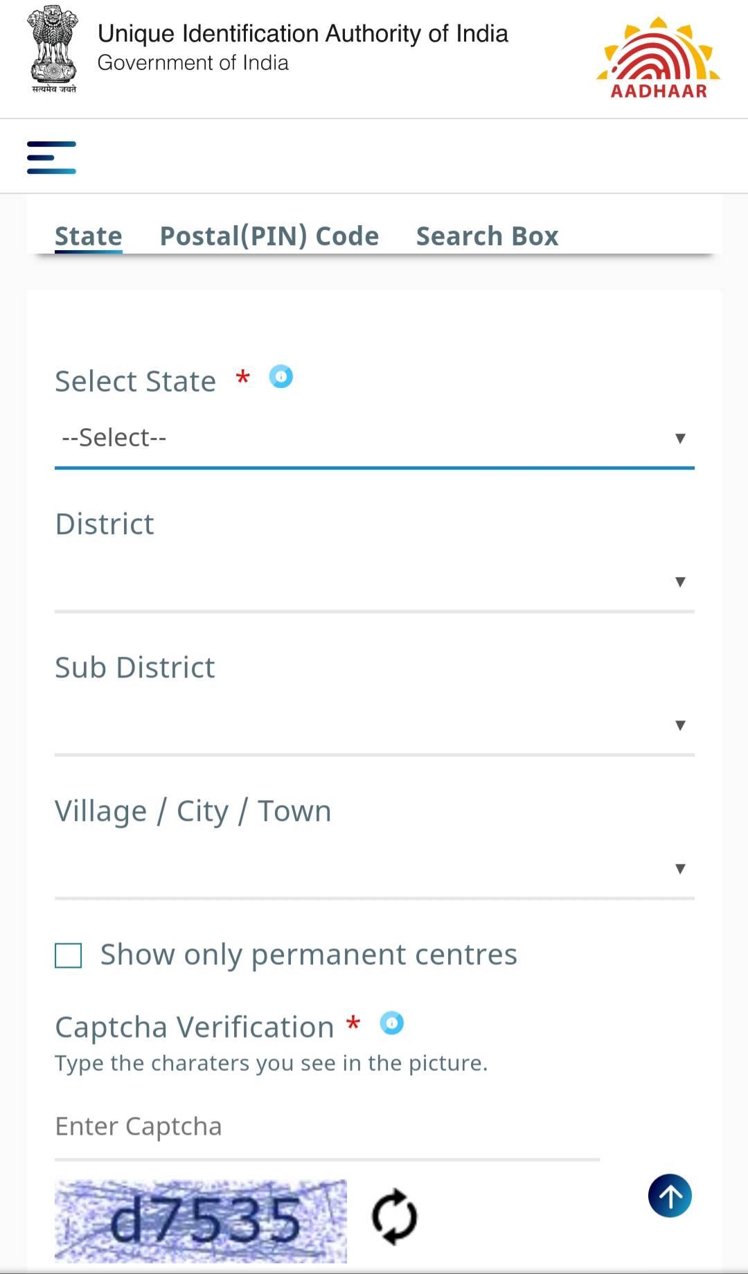 Aadhar Enrolment Center Registration