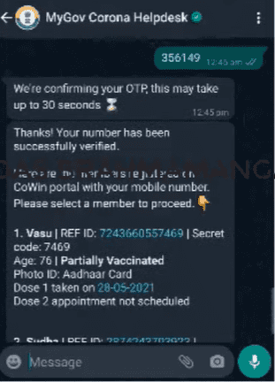 Covid Vaccine WhatsApp Slot Booking 2021 Number | Book Covaxin, Covishield Online, Download Certificate