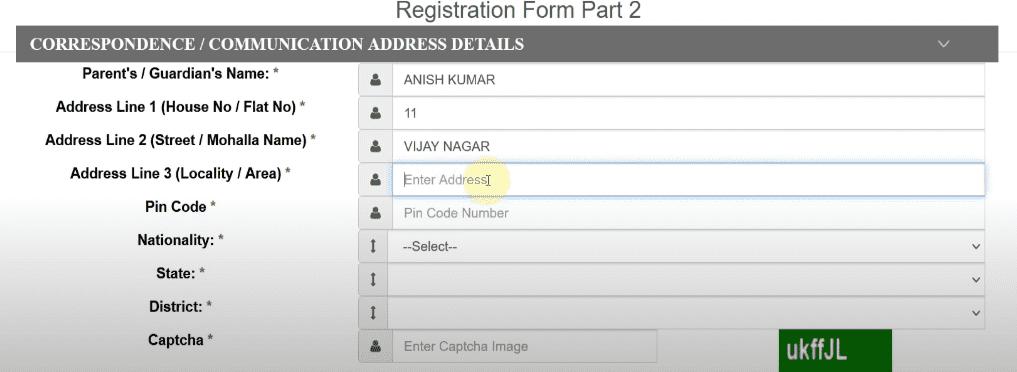 UP TET 2021 Registration Form
