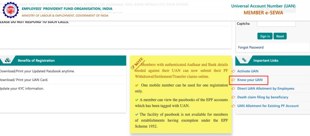 How to recover forgotten or lost EPFO UAN online