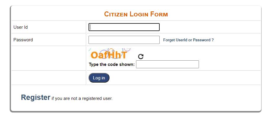 e-District Delhi Portal Login Procedure