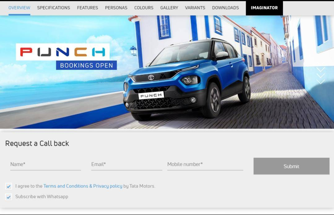 Tata Punch Booking, Pre-Order Price, Apply, Online Registration, Open Now